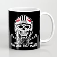 jedi Mugs featuring Doomies Never Say Jedi by Ant Atomic