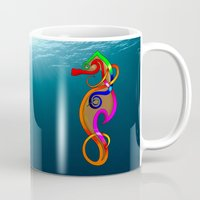 psychadelic Mugs featuring Psychadelic Seahorse Knot by Knot Your World