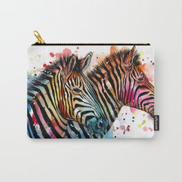 Sunset Zebras Carry-All Pouch