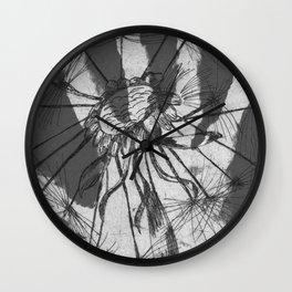 August (Innocence) - Grey Palette Wall Clock
