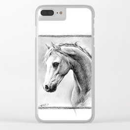 Horse 1 Clear iPhone Case