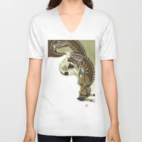 daenerys V-neck T-shirts featuring The Serpent Mother by Luis Uzcategui