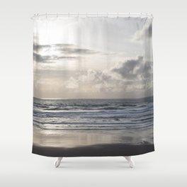 Silver Scene Shower Curtain