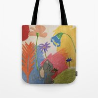 mouse Tote Bags featuring Mouse by SketchMaster