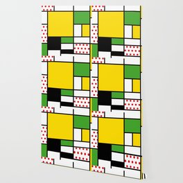 Mondrian – Bycicle Wallpaper