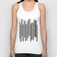 skyline Tank Tops featuring Skyline by The New Minimalist