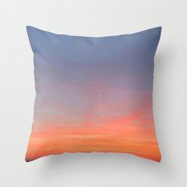 Purple-pinkish yellowish Sky Throw Pillow