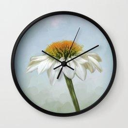 Fresh Cone Flower Wall Clock