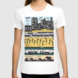 Silhouette city T-shirt