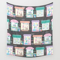 shopping Wall Tapestries featuring Let's Go Window Shopping by Noonday Design