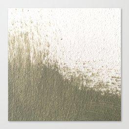 Green stroke  Canvas Print