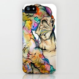 Overwhelmed iPhone Case