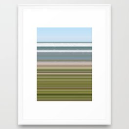 Sky Water Beach Grass Framed Art Print