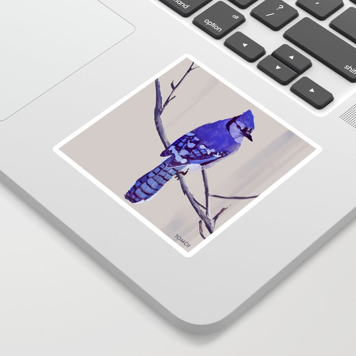 Blue Jay Bird Sticker