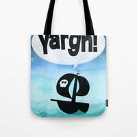 pirates Tote Bags featuring Pirates by ryanbarlin