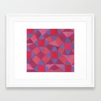 quilt Framed Art Prints featuring Quilt by leah reena goren