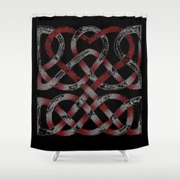 Distressed Heart Shower Curtain