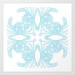 Crab Kaleidoscope Art Print