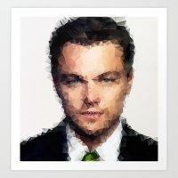 leonardo dicaprio Art Prints featuring Leonardo DiCaprio by lauramaahs