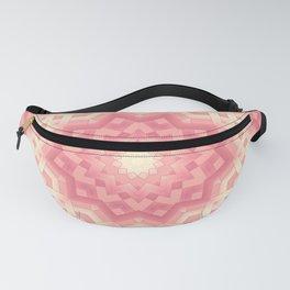 pink basket weavу #binding #ribbon #pink #peach #beige Fanny Pack