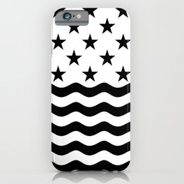 ADVENTURE (BLACK-WHITE) iPhone Case