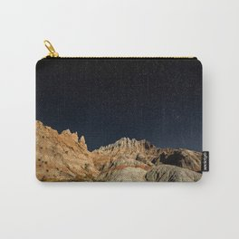 Into the Sea - Night Sky Over the South Dakota Badlands Carry-All Pouch