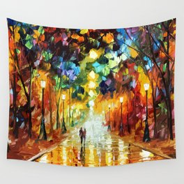 Romantic Starry Night Wall Tapestry
