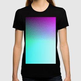 Six Color Ombre Cyan, Purple, Green, Pink, Purple, Blue, Spectrum Flame Texture  T-shirt