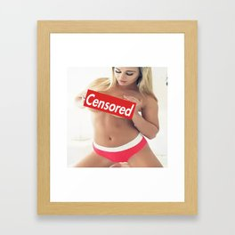 Censored  3 Framed Art Print