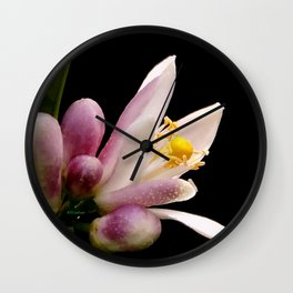 Lemon Buds Wall Clock