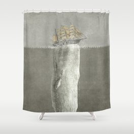 Revenge of The Whale Shower Curtain