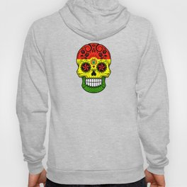 Sugar Skull with Roses and Flag of Bolivia Hoody