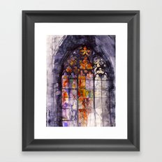 Stained glass Framed Art Print