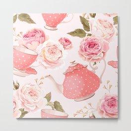 Pink Teacup Metal Print