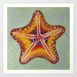 Sea Star Orange Art Print