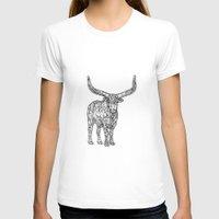 bull T-shirts featuring Bull by Takashi  Ariyoshi