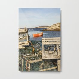 Lobster Traps in Peggy's Cove Metal Print
