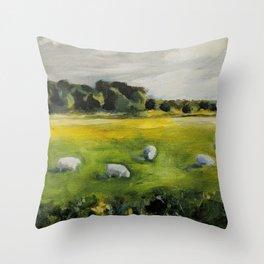 Irish Sheep Throw Pillow