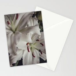white lilium 2 Stationery Cards