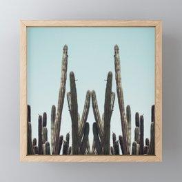 Cactus Twins Framed Mini Art Print