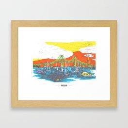 MADink Newport Pell Bridge Framed Art Print