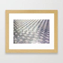 Floor metal surface Framed Art Print