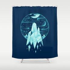 Arctic Wolf Shower Curtain