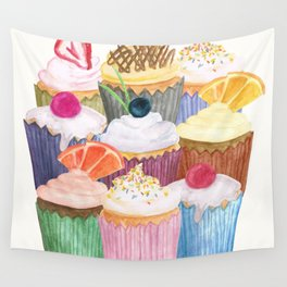 Cupcake Cluster Wall Tapestry