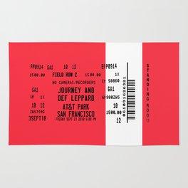 Concert Ticket Stub - Journey at AT&T Park - RED Rug