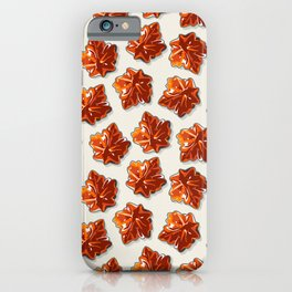 Canadian Maple Syrup Candy Pattern iPhone Case