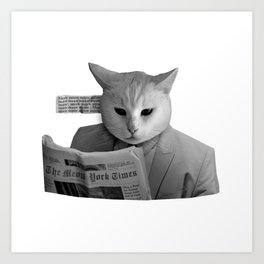 Cat Meow News Art Print