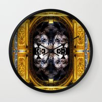 illuminati Wall Clocks featuring ILLUMINATI - III by Three of the Possessed