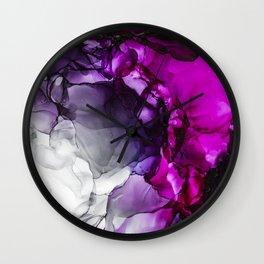 Violet Haze II Wall Clock