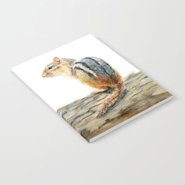 Little Chip - a painting of a Chipmunk by Teresa Thompson Notebook